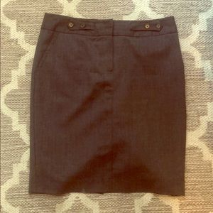 Trina Turk sz 4 dark charcoal grey suit skirt